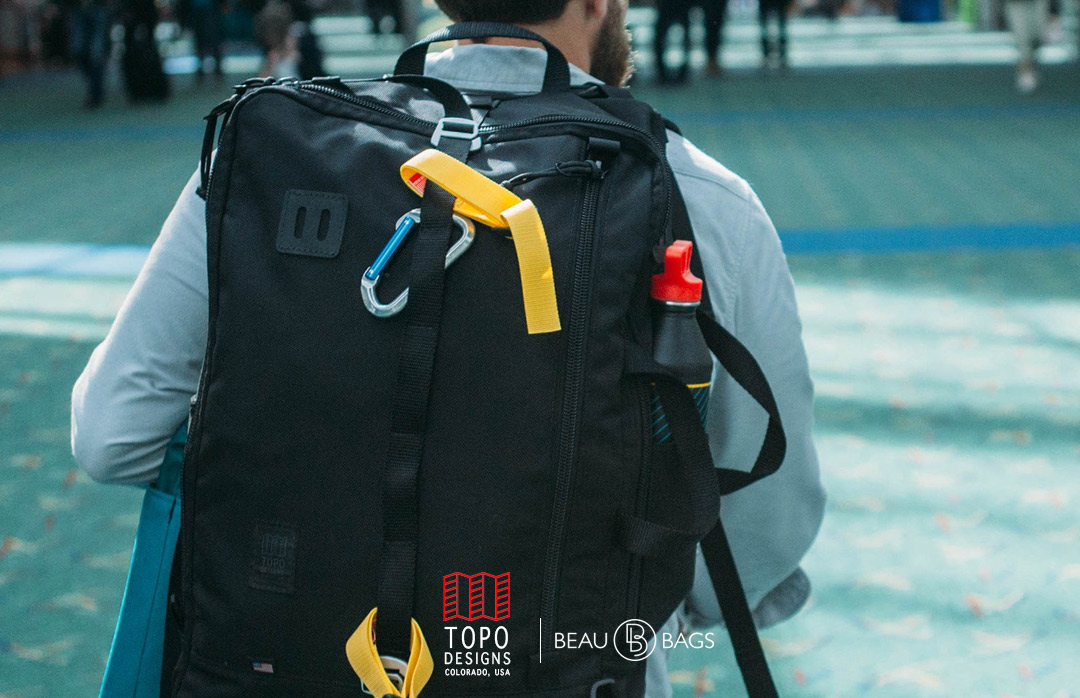 Topo Designs Travel Bag Ballistic Black, eine Tasche für eine Reise von ein paar Tagen oder eine Reise, die ewig dauert