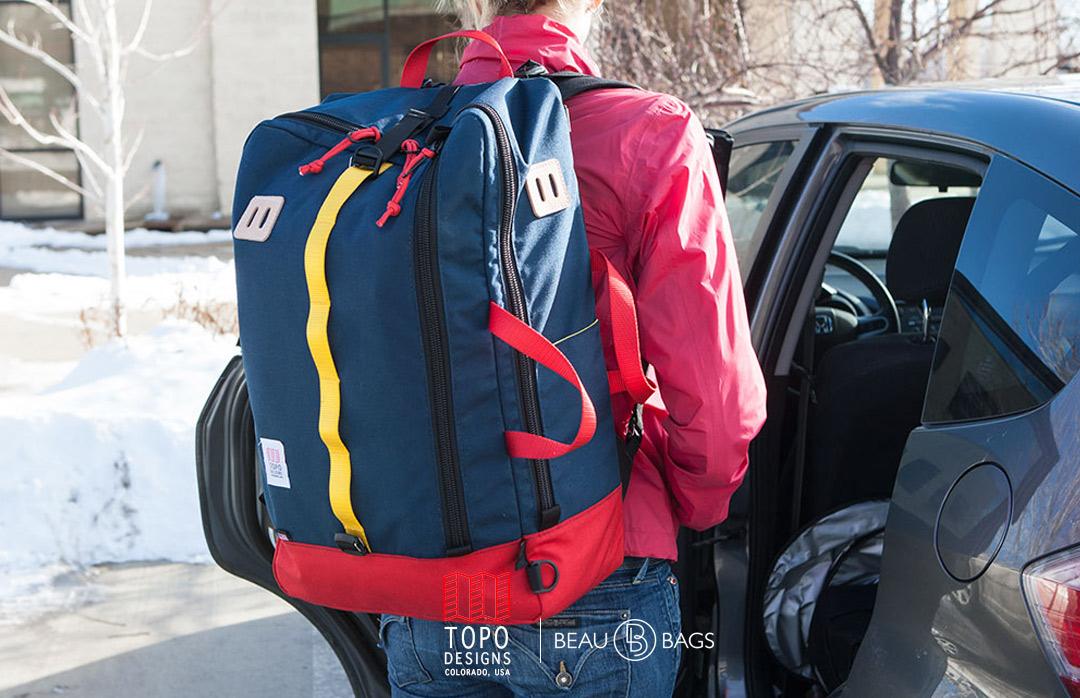 Topo Designs Travel Bag Navy, eine Tasche für eine Reise von ein paar Tagen oder eine Reise, die ewig dauert